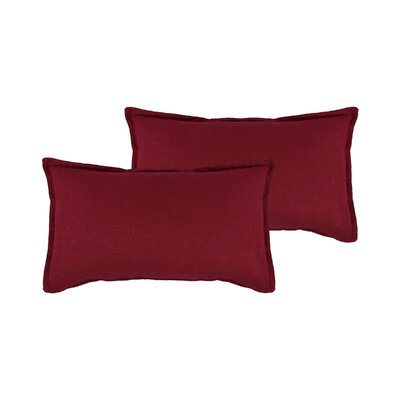 Lombard Reversible Decorative Linen Boudoir Pillow Color: Red