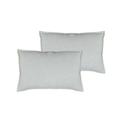 Lombard Reversible Decorative Linen Boudoir Pillow Color: White