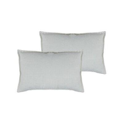 Lombard Reversible Decorative Linen Boudoir Pillow Color: White