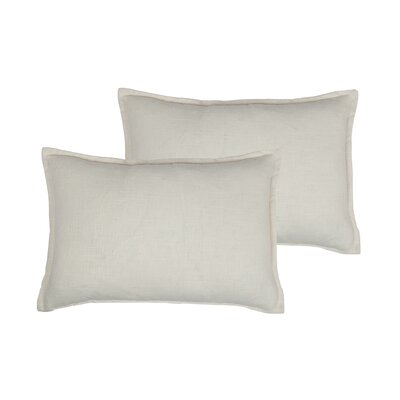 Lombard Reversible Decorative Linen Boudoir Pillow Color: Off-white