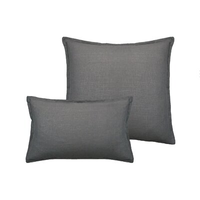 Lombard 2 Piece Reversible Linen Pillow Set Color: Gray