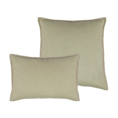 Lombard 2 Piece Reversible Linen Pillow Set Color: Light Beige