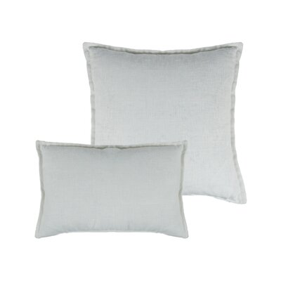 Lombard 2 Piece Reversible Linen Pillow Set Color: White