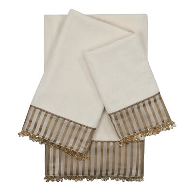 Hamilton Embellished 3 Piece Towel Set