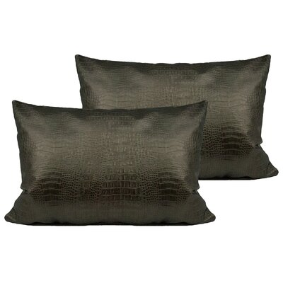 Alligator Outdoor Boudoir Pillow Color: Silver Bronze