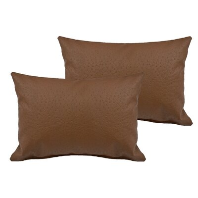 Ostrich Outdoor Boudoir Pillow Color: Brown