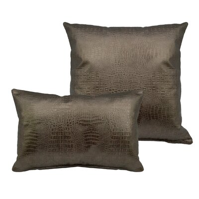 Alligator 2 Piece Outdoor Pillow Set Color: Gold Bronze