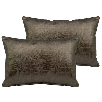 Alligator Outdoor Boudoir Pillow Color: Gold Bronze