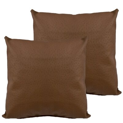 Ostrich Outdoor Throw Pillow Color: Brown