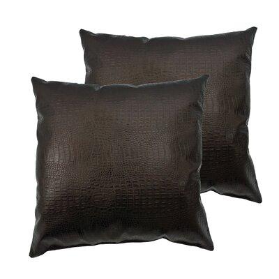 Alligator Outdoor Throw Pillow Color: Dark Bronze