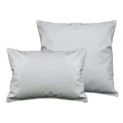 Alligator 2 Piece Outdoor Pillow Set Color: Pearl White