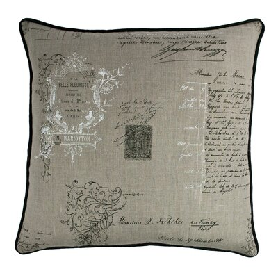 Belle Decorative Linen Throw Pillow
