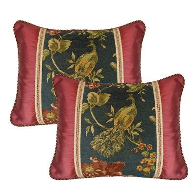 Peackock Decorative Linen Throw Pillow
