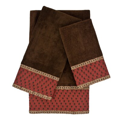Kirkwood 3 Piece Embellished Towel Set