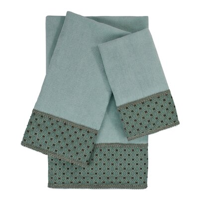 Mason 3 Piece Embellished Towel Set