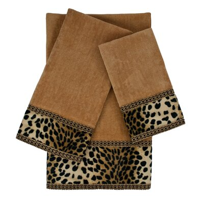 Leops 3 Piece Embellished Towel Set