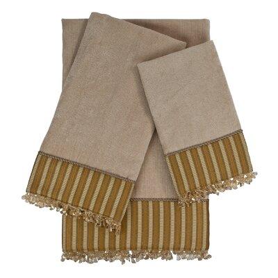 Mulligan 3 Piece Embellished Towel Set