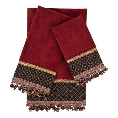 Arcadia 3 Piece Embellished Towel Set