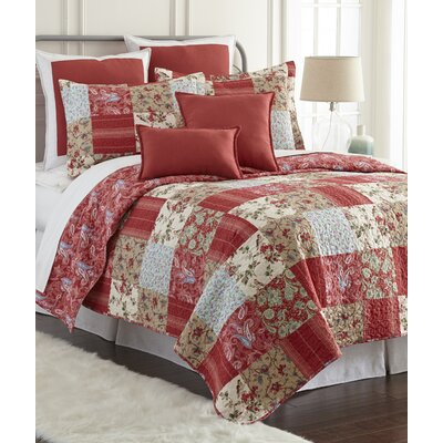 Manhattan Cotton 3 Piece Reversible Quilt Set Size: King