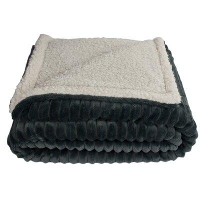 Sherry Kline Fairbanks Corduroy Reversible Throw Blanket Color: Gray