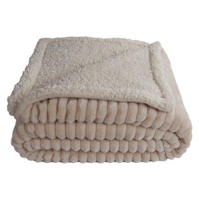 Sherry Kline Fairbanks Corduroy Reversible Throw Blanket Color: Cream