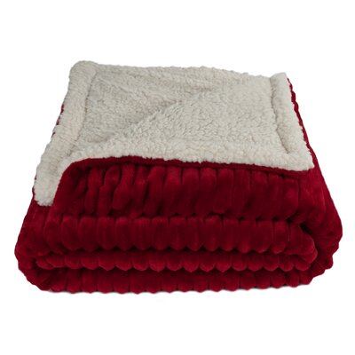 Sherry Kline Fairbanks Corduroy Reversible Throw Blanket Color: Red