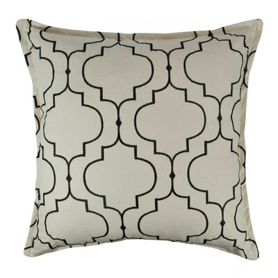 Hampton Embroidered Reversible 100% Cotton Throw Pillow Color: Black