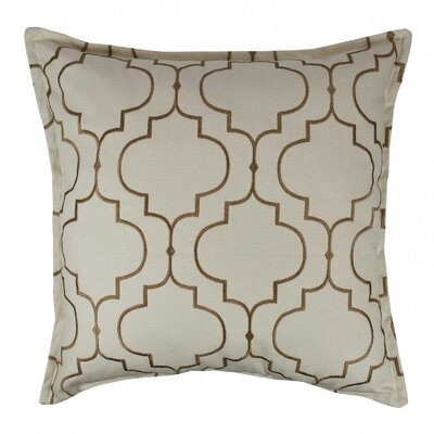 Hampton Embroidered Reversible 100% Cotton Throw Pillow Color: Dark Gold