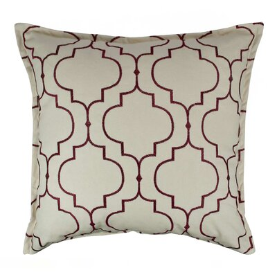 Hampton Embroidered Reversible 100% Cotton Throw Pillow Color: Ruby Red