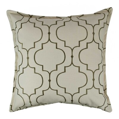 Hampton Embroidered Reversible 100% Cotton Throw Pillow Color: Olive Green