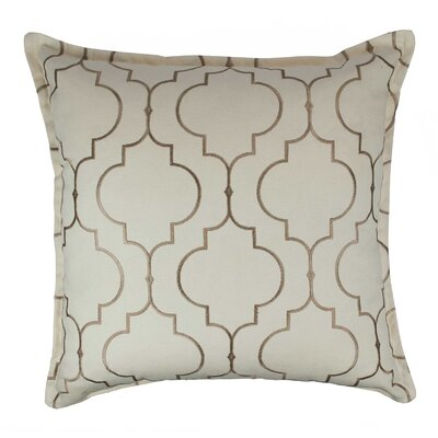 Hampton Embroidered Reversible 100% Cotton Throw Pillow Color: Taupe