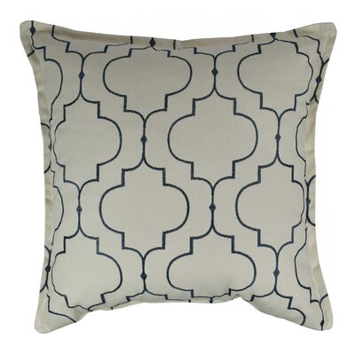 Hampton Embroidered Reversible 100% Cotton Throw Pillow Color: Light Blue
