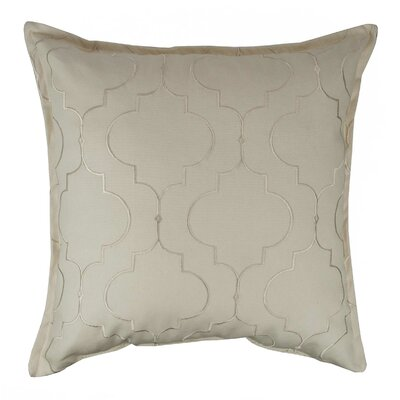 Hampton Embroidered Reversible 100% Cotton Throw Pillow Color: Ivory
