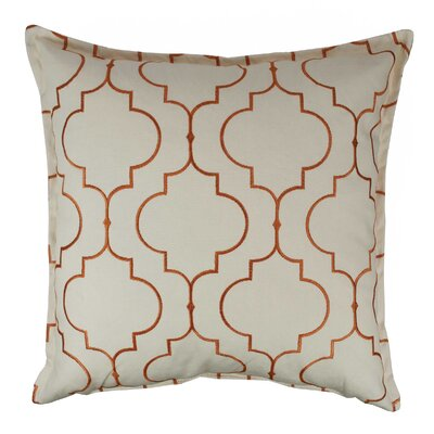 Hampton Embroidered Reversible 100% Cotton Throw Pillow Color: Orange