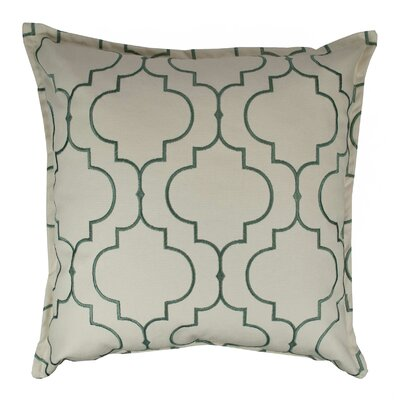 Hampton Embroidered Reversible 100% Cotton Throw Pillow Color: Green