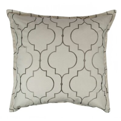 Hampton Embroidered Reversible 100% Cotton Throw Pillow Color: Silver Gray
