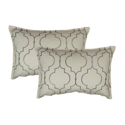 Hampton Embroidered Reversible Decorative Cotton Boudoir Pillow Color: Silver Gray