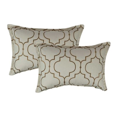 Hampton Embroidered Reversible Decorative Cotton Boudoir Pillow Color: Dark Gold