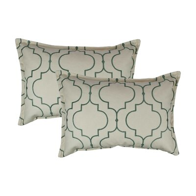 Hampton Embroidered Reversible Decorative Cotton Boudoir Pillow Color: Green