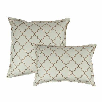 2 Piece Reversible Decorative Cotton Pillow Set Color: Dark Gold