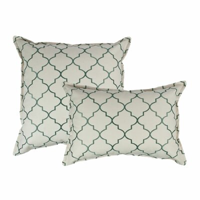 2 Piece Reversible Decorative Cotton Pillow Set Color: Green