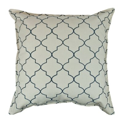 Reversible Decorative Cotton Throw Pillow Color: Teal