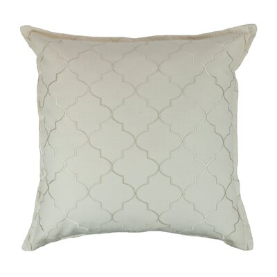 Reversible Decorative Cotton Throw Pillow Color: Ivory