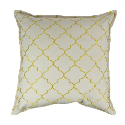 Reversible Decorative Cotton Throw Pillow Color: Yellow