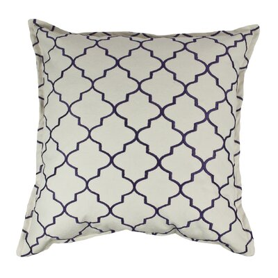 Reversible Decorative Cotton Throw Pillow Color: Purple
