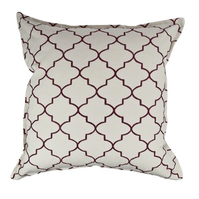 Reversible Decorative Cotton Throw Pillow Color: Ruby Red