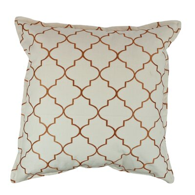 Reversible Decorative Cotton Throw Pillow Color: Orange
