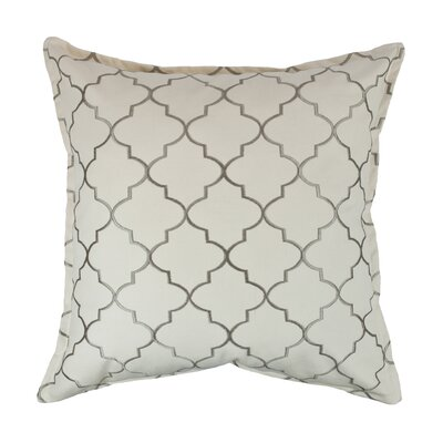 Reversible Decorative Cotton Throw Pillow Color: Silver Gray