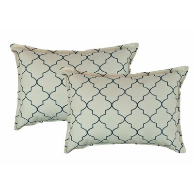 Reversible Boudoir Decorative Cotton Lumbar Pillow Color: Light Blue