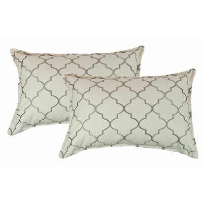 Reversible Boudoir Decorative Cotton Lumbar Pillow Color: Silver Gray